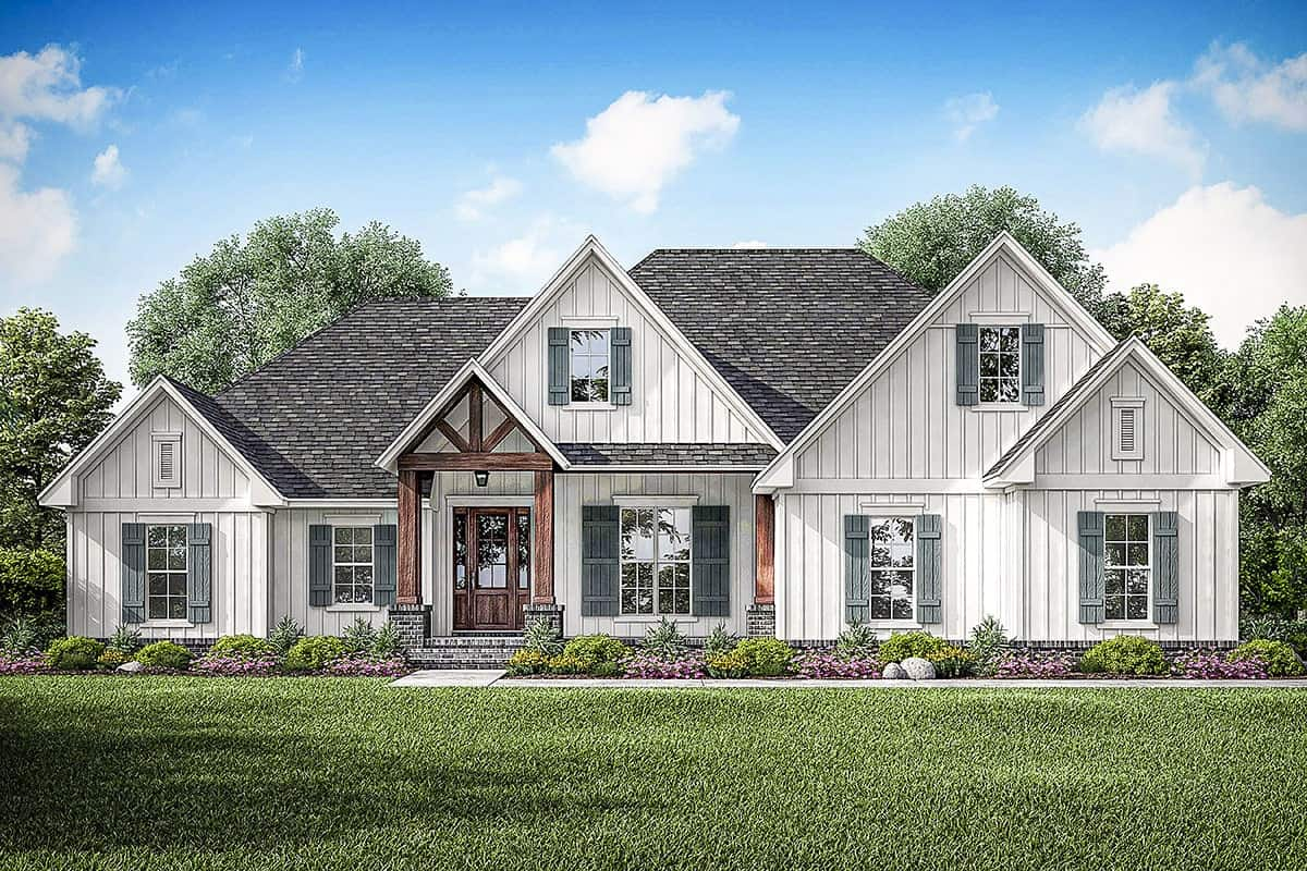 Two-Story 4-Bedroom New American Home with Bonus Room