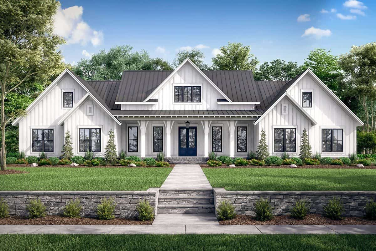 Two-Story 5-Bedroom Expanded Modern Farmhouse with Game Room and Bonus Room