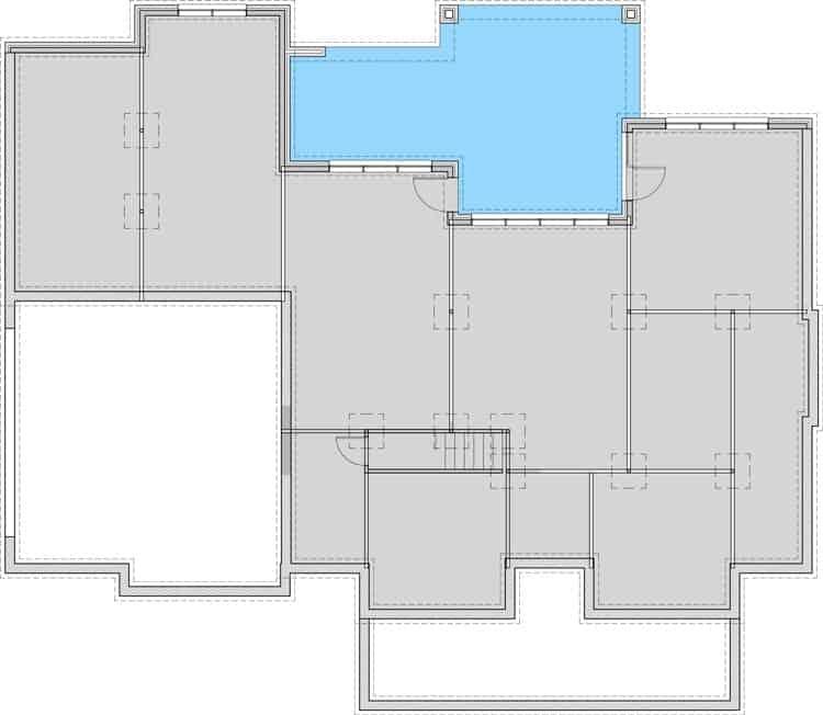Walkout basement layout