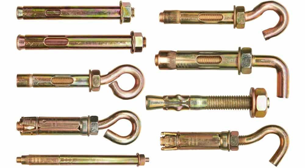 A look at various anchor bolts.