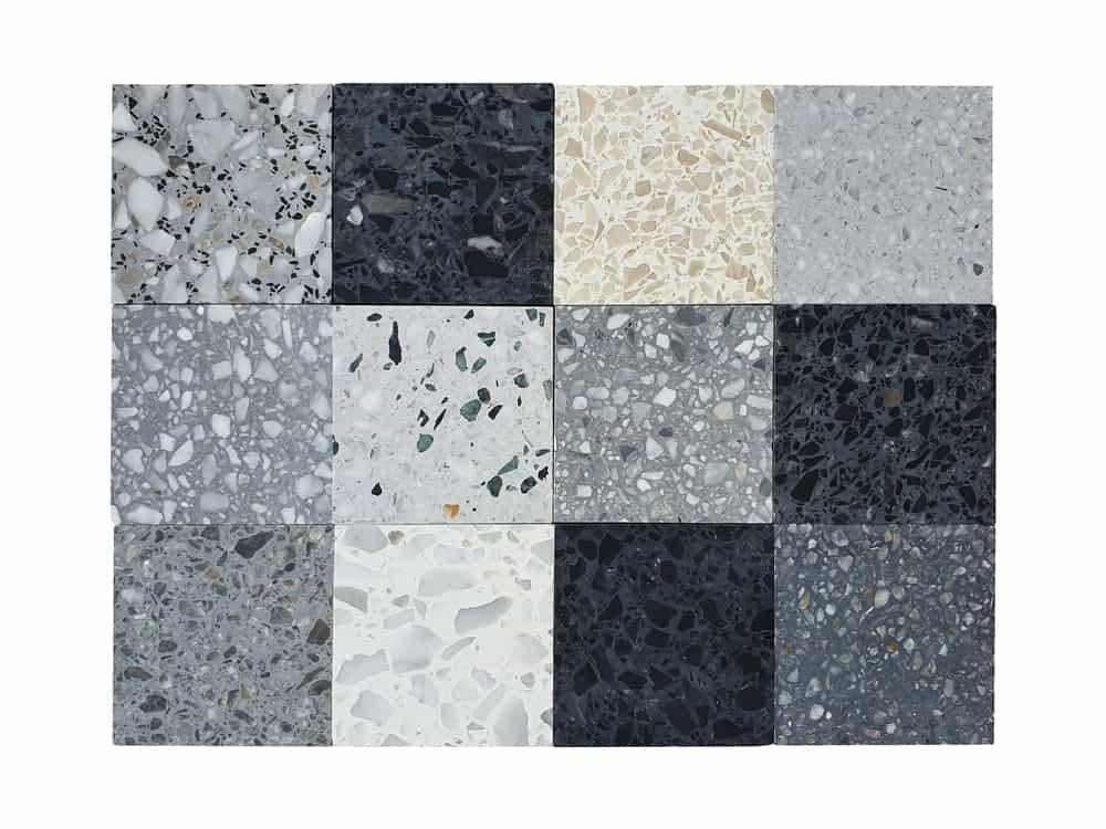 A look at various terrazzo tiles samples.