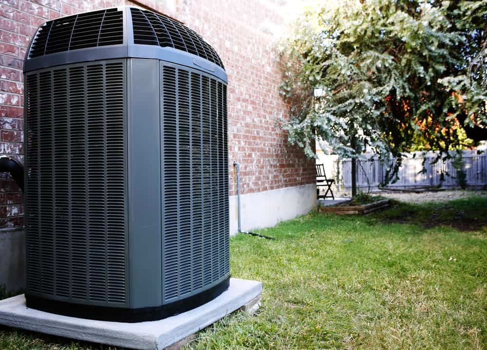 A modern heater and air conditioner unit for the whole house.