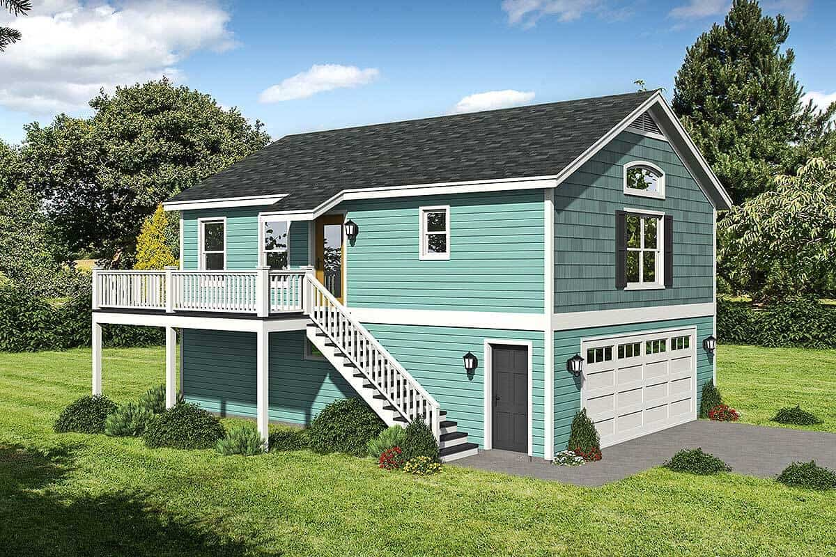 1-Bedroom Two-Story Carriage Home with Drive-Under Garage
