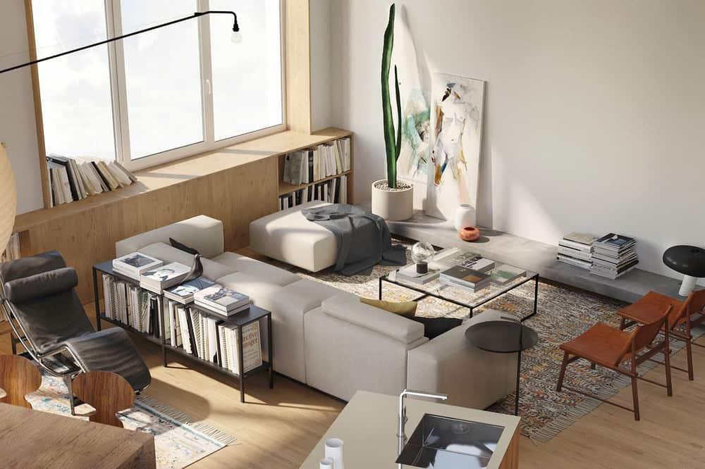 brow & go living interior by room design büro.