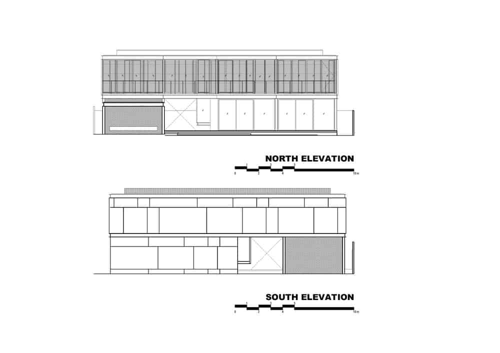 This is an illustration of the north and south elevation of the house.