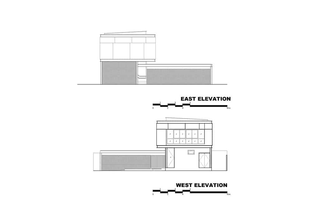 This is an illustration of the east and west elevation of the house.