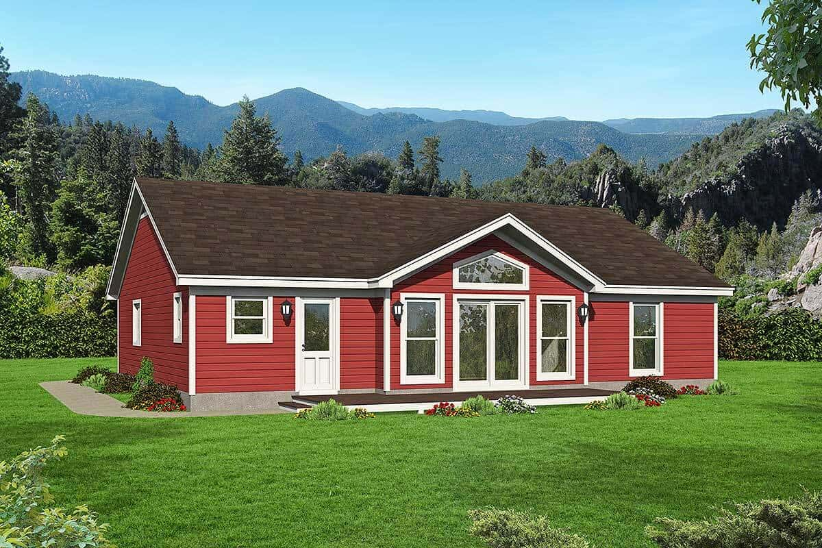 2-Bedroom Single-Story Mountain Ranch with Open Floor Plan