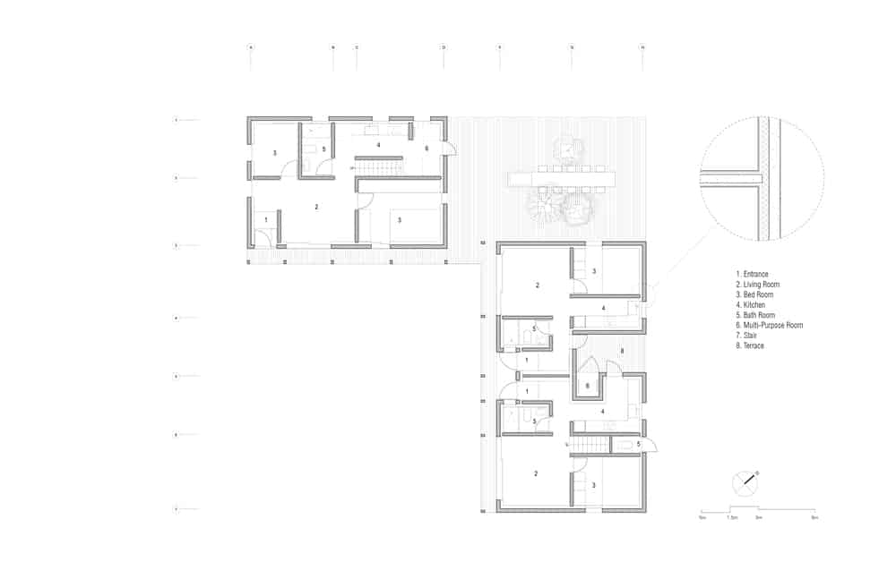 This is an illustrative representation of the first level floor plan.