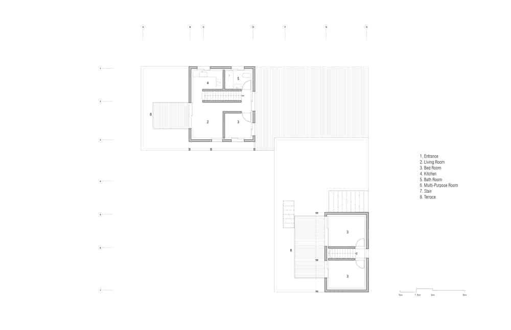 This is an illustrative representation of the second level floor plan.