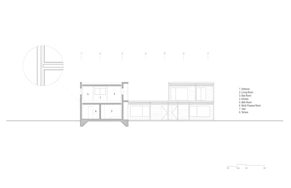 This is an illustrative representation of the section B of the house.