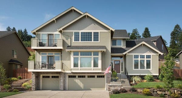 3-Bedroom Two-Story Craftsman Style Groton Home for Sloping Lot