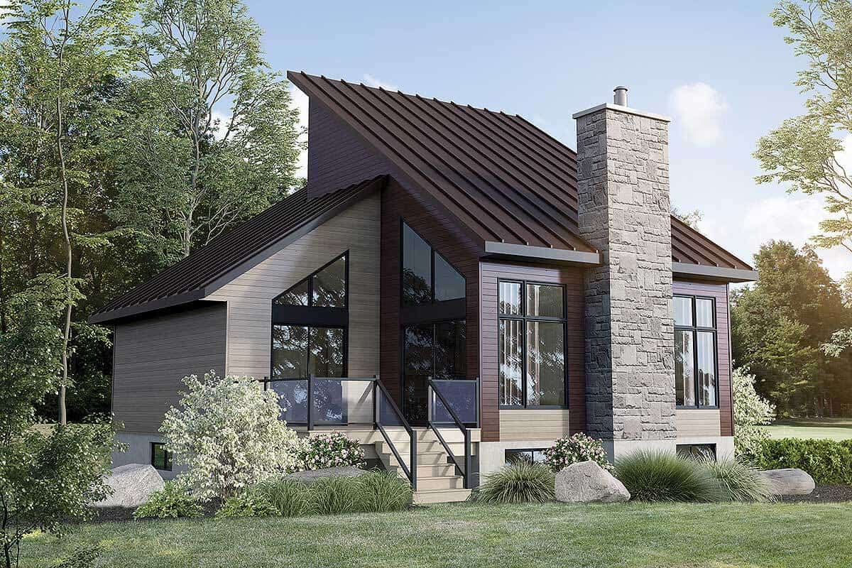 3-Bedroom Two-Story Mountain Cottage with Open-Concept Living Space