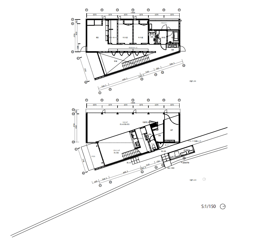 These are the illustrated floor plans of the whole house.