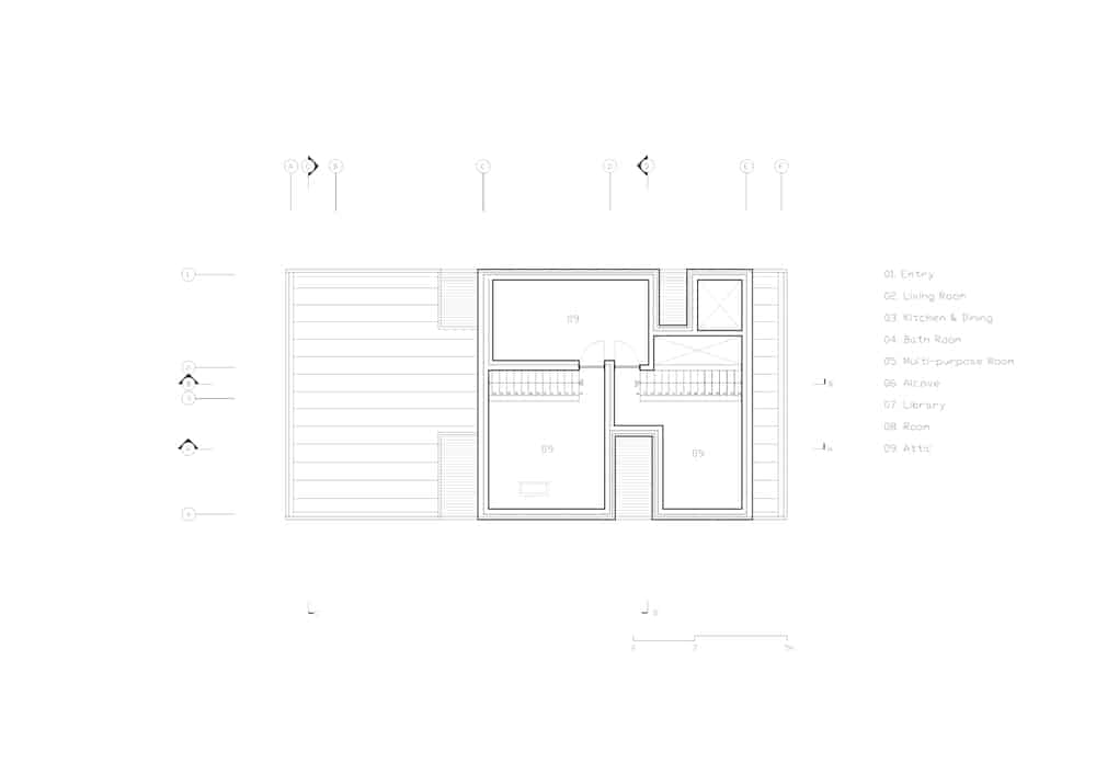 This is an illustrative representation of the attic level floor plan.