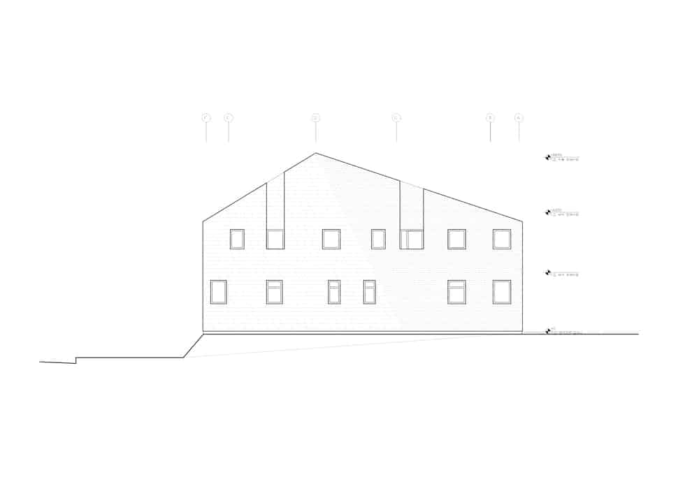 This is an illustrative representation of the north elevation of the house..