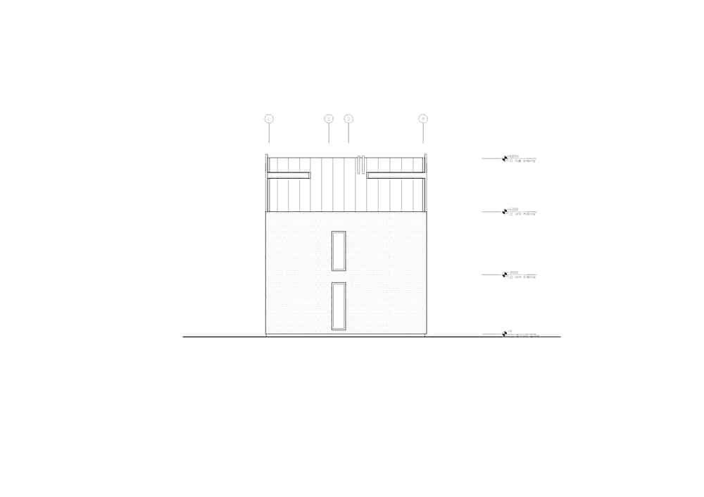 This is an illustrative representation of the west elevation of the house..