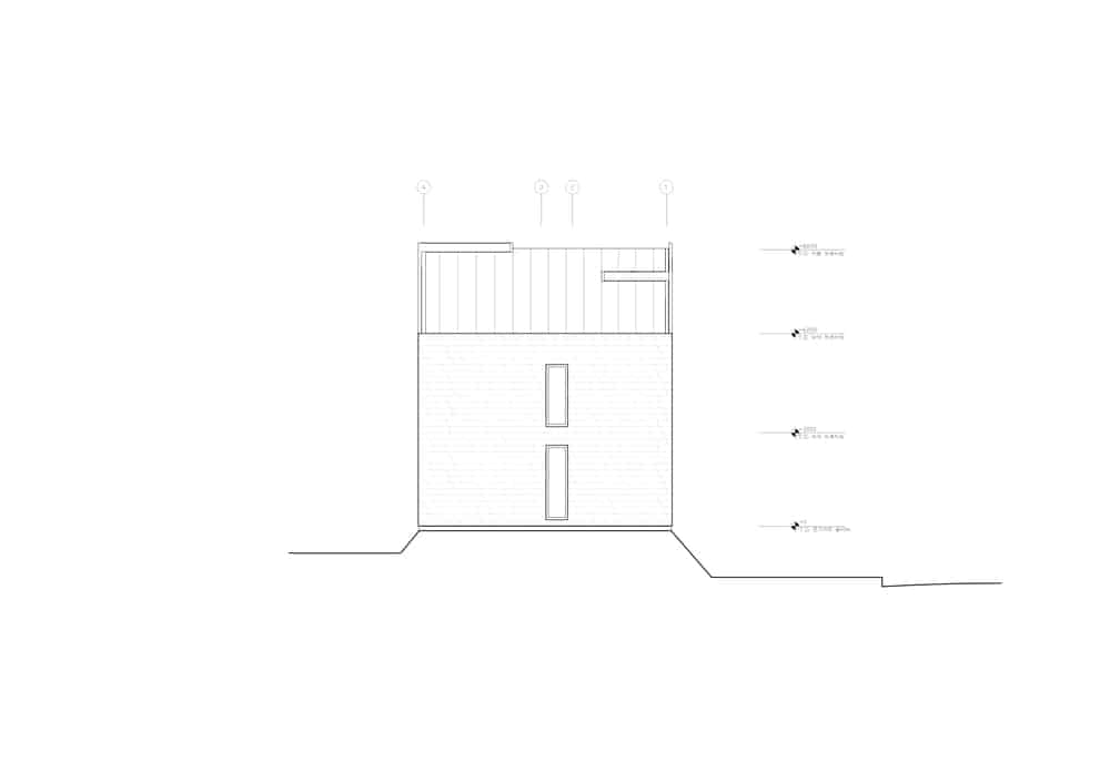 This is an illustrative representation of the east elevation of the house..