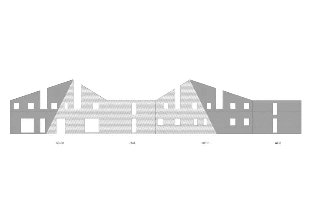 This is an illustrative representation of the unfolded elevations of the house.