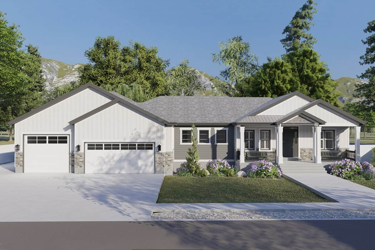 4-Bedroom Single-Story Traditional Home with a Wet Bar