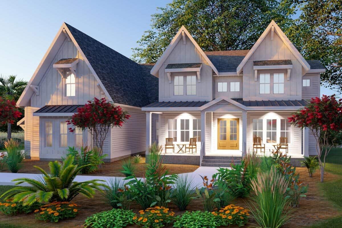4-Bedroom Three-Story Exclusive Modern Farmhouse with Bonus Room