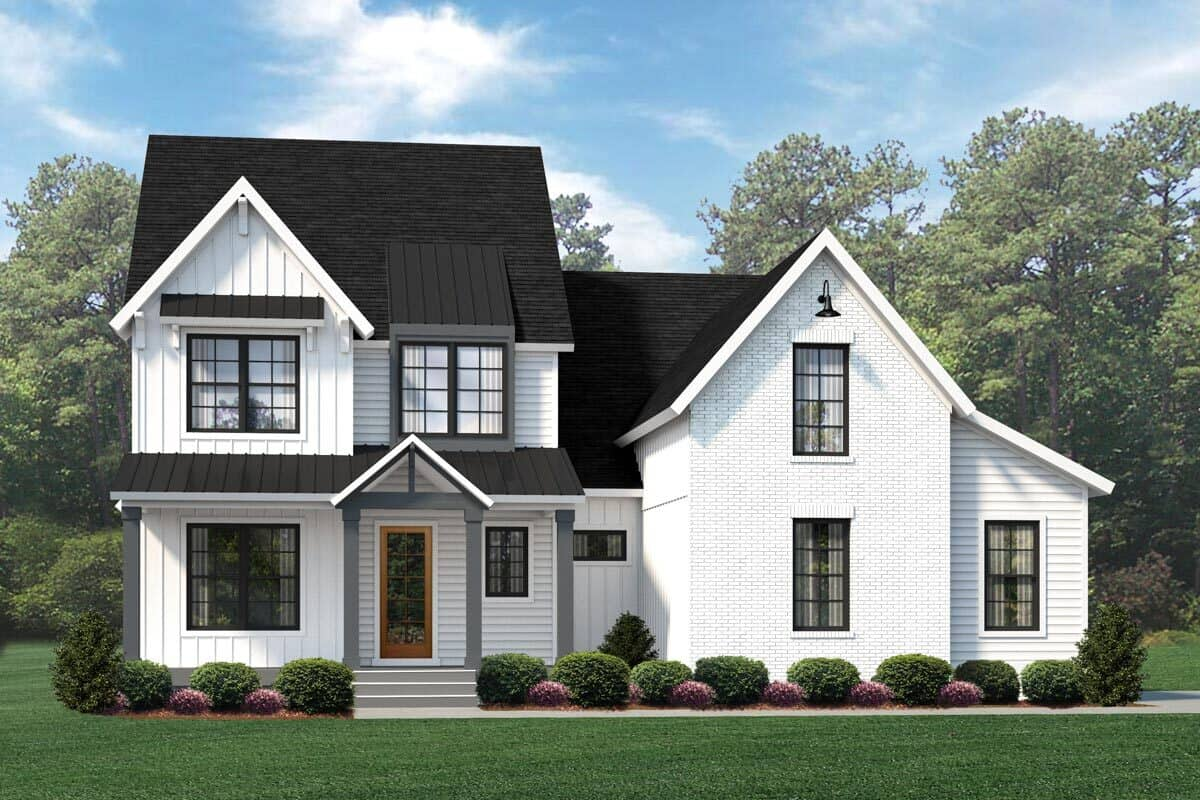 6-Bedroom Three-Story Modern Country Home with Kids' Loft and Bonus Room