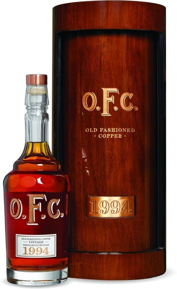 A bottle of OFC 1994 bottle of Bourbon from Cask Cartel.