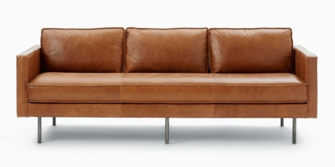 West Elm's Axel Leather Sofa
