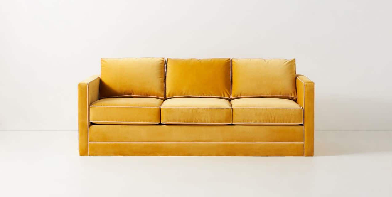 Anthropologie's Carroll Contrast Piping Sofa