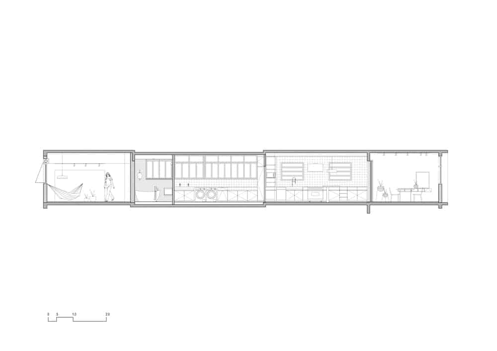 This is an illustrative representation of the side elevation of the house.