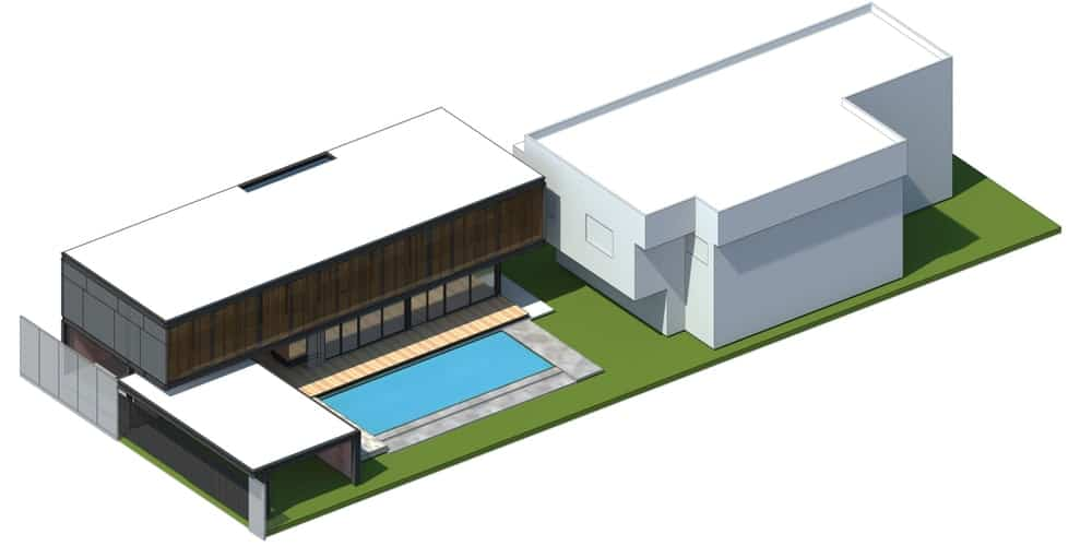 This is a 3D illustration of the additional construction showcasing the finished construction.