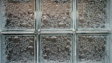 This is a close look at glass block windows.