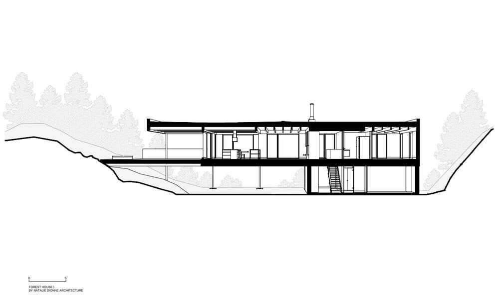 This is an illustrative representation of the lateral elevation of the house.