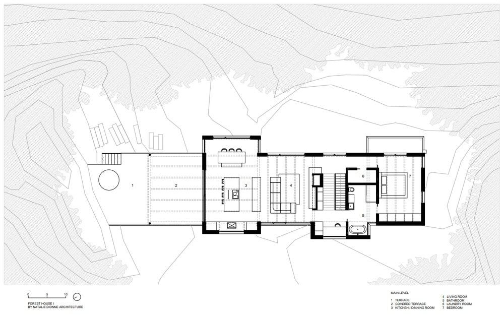 This is an illustrative representation of the main level floor plan.