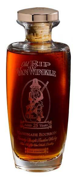 A bottle of Old Rip Van Winkle Kentucky Straight Bourbon from Woods Wholesale Wine.