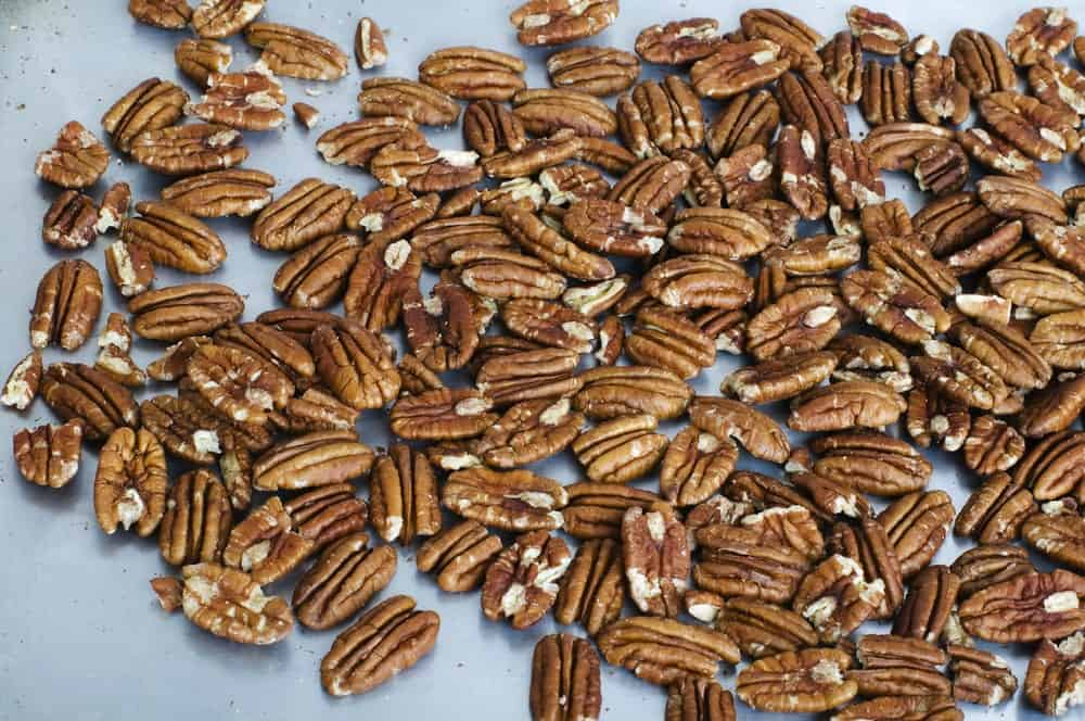 A bunch of toasted pecans.