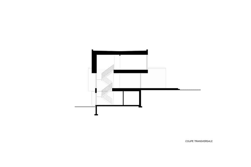 This is an illustrated representation of the side elevation of the house.