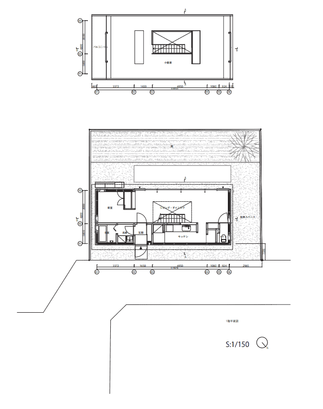 This is an illustrative representation of the floor plan of the house for the first and second levels.