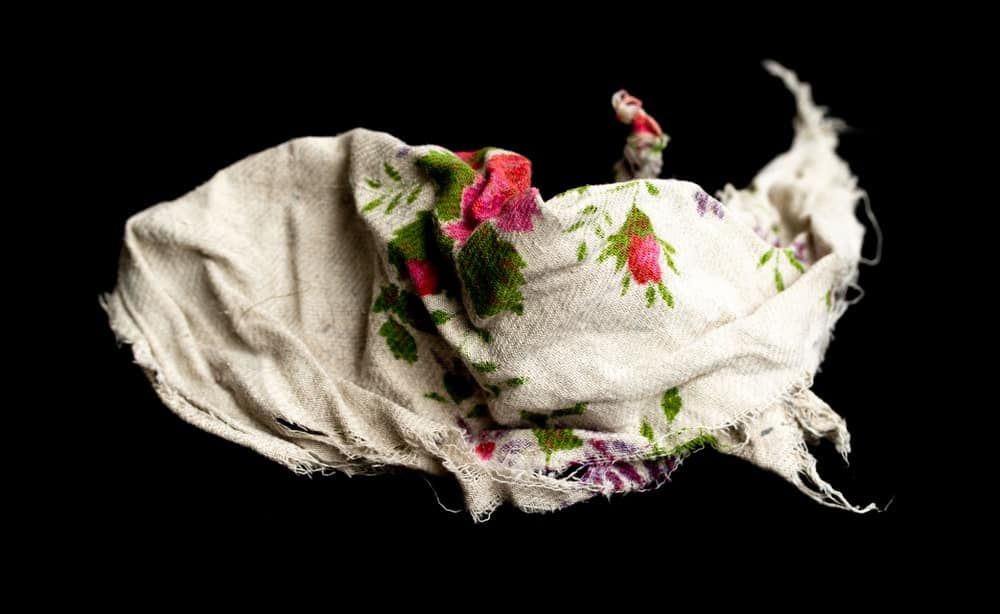 An old floral rag.