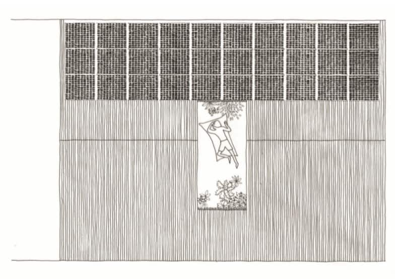 This is the illustration of the rooftop level floor plan showcasing the various sections of the house.