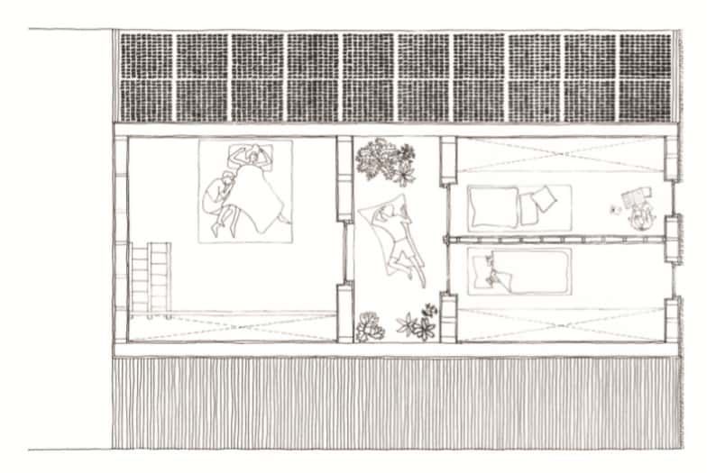 This is the illustration of the third level floor plan showcasing the various sections of the house.