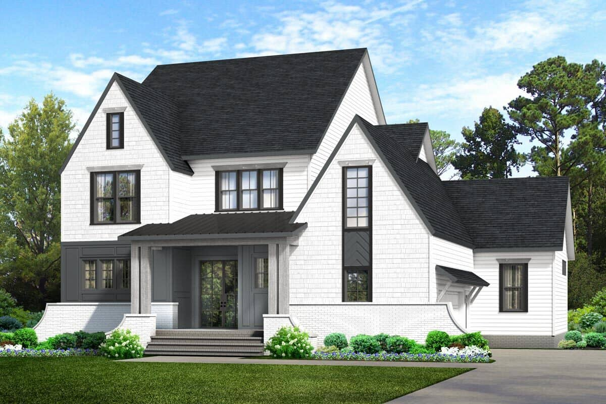 Three-Story 6-Bedroom New American Home with Kids' Loft