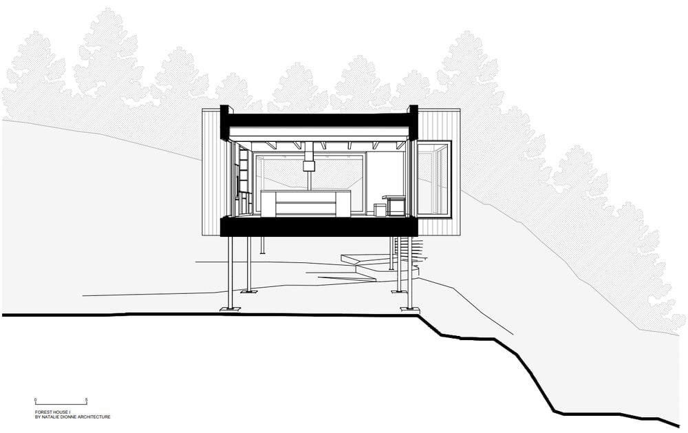 This is an illustrative representation of the cross elevation of the house.