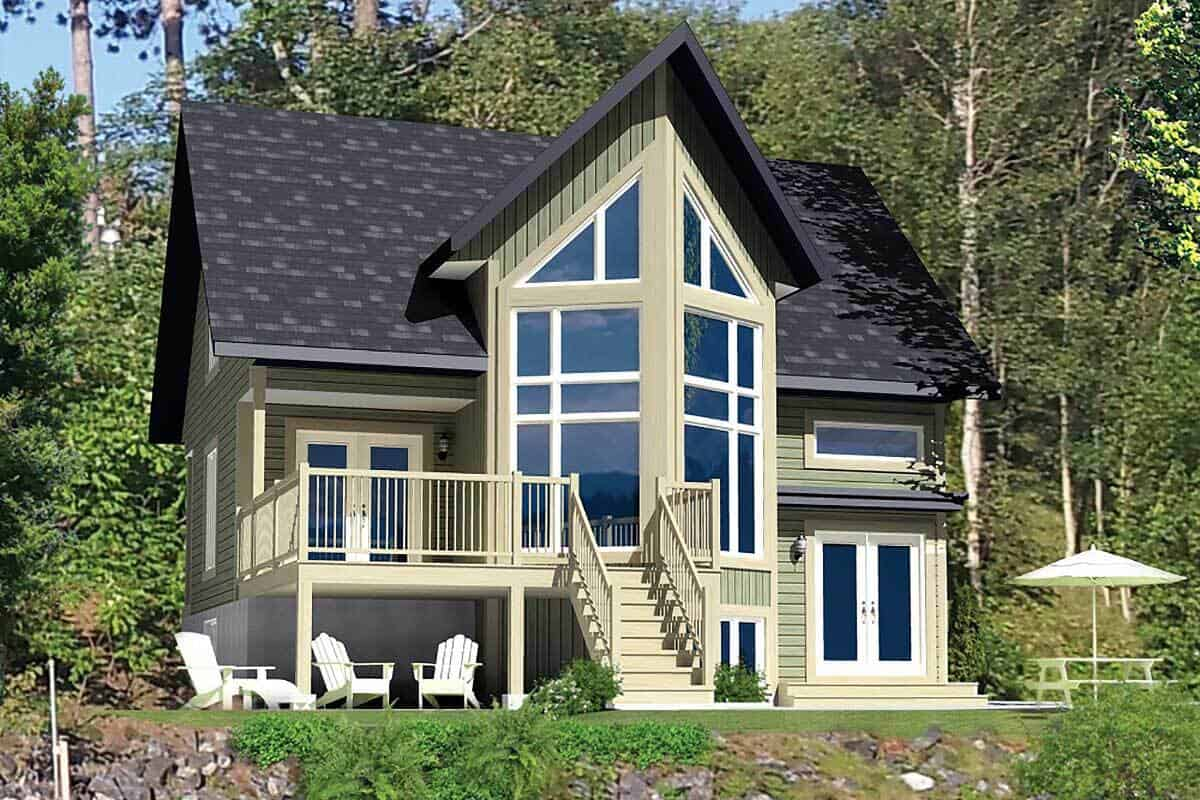 Two-Story 2-Bedroom Mountain Vacation Home with Open Concept Living