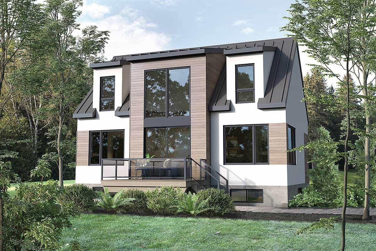 Two-Story 3-Bedroom New American Contemporary Home with Open Concept Living