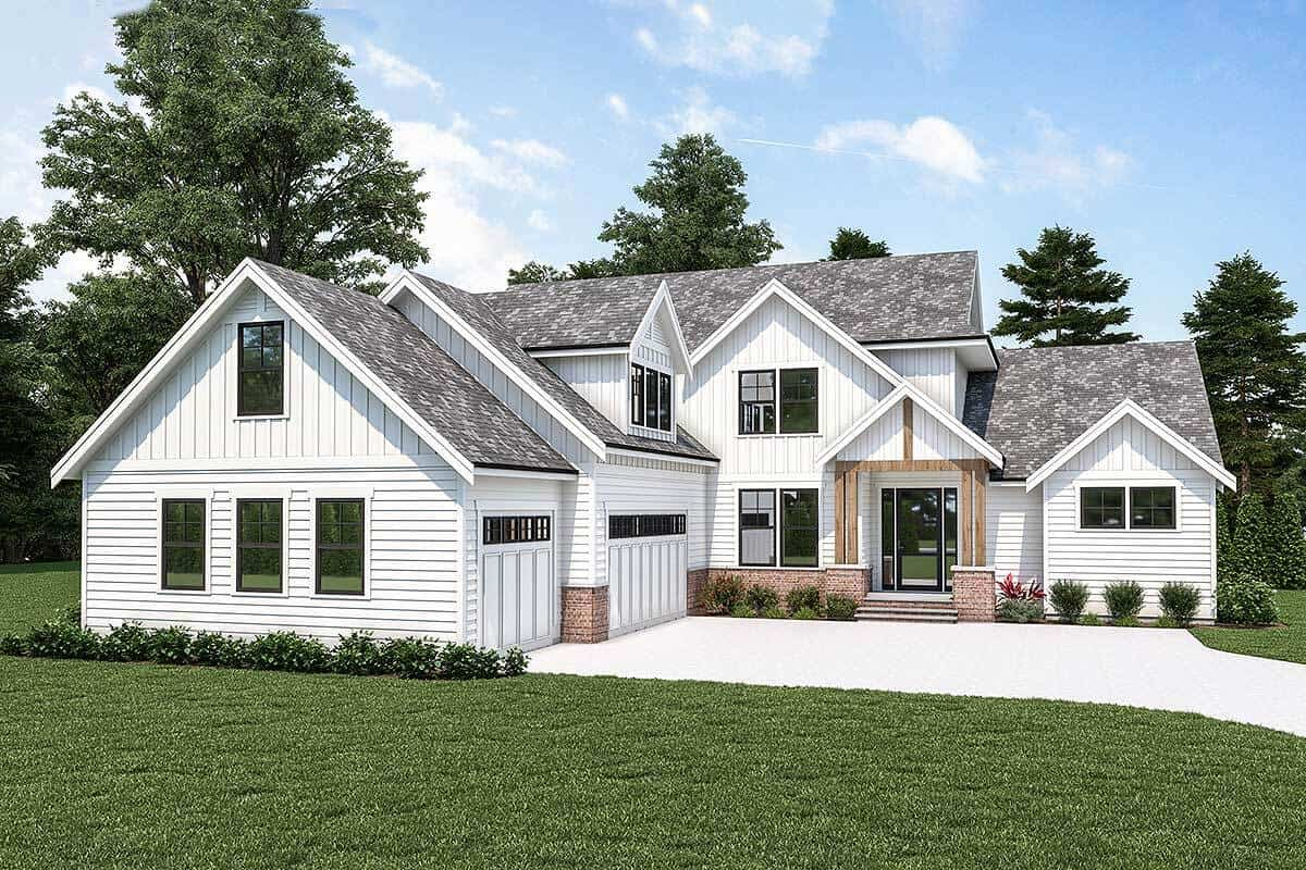 Two-Story 4-Bedroom Country Craftsman with Bonus Room
