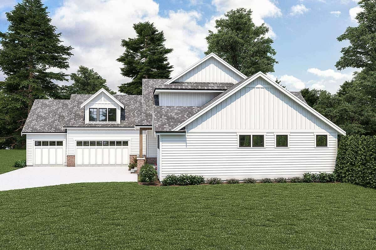 Right rendering of the two-story 4-bedroom country craftsman.