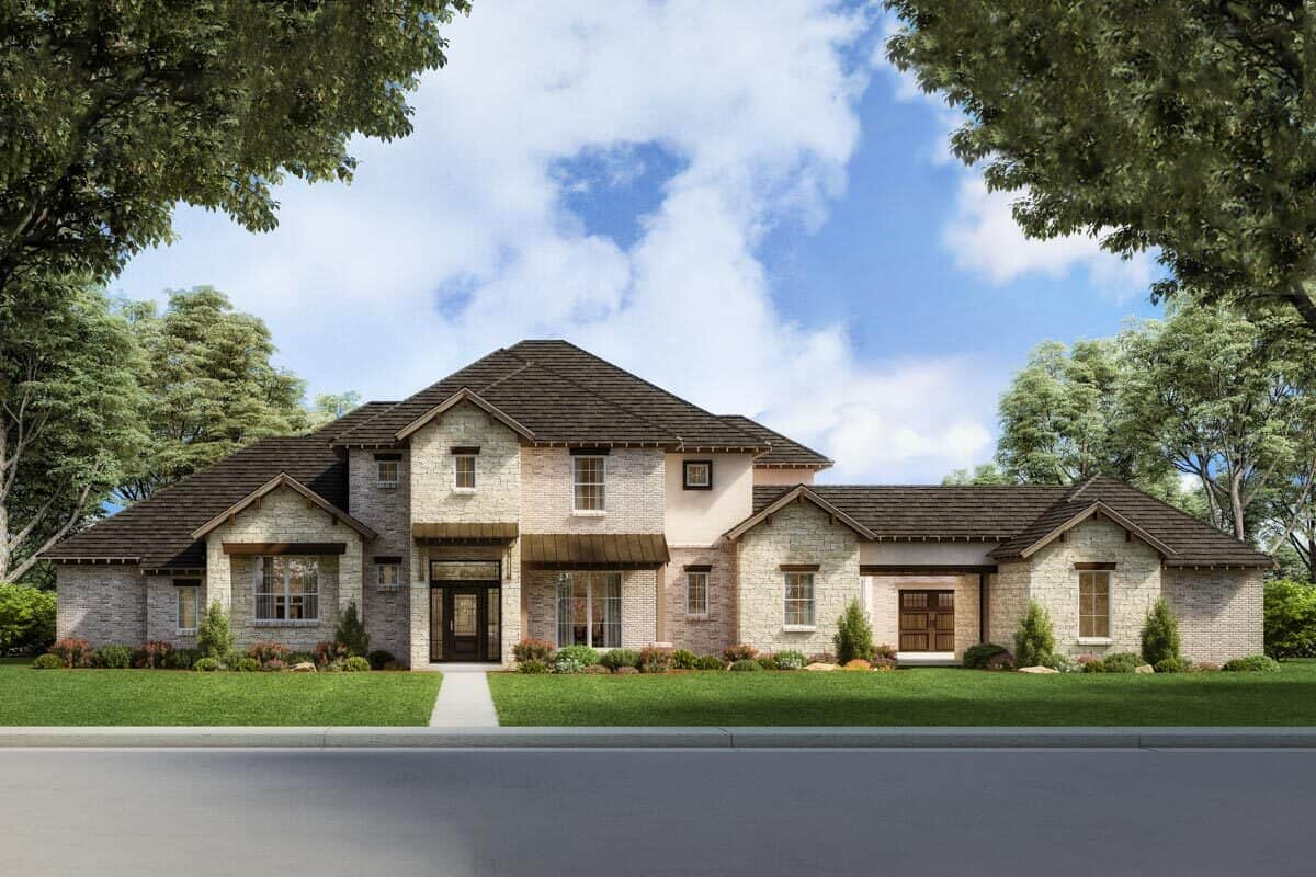 Two-Story 4-Bedroom Exclusive Hill Country Home with Study Loft