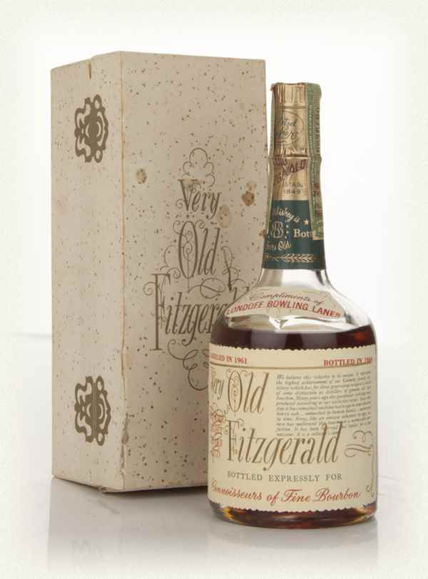 A bottle of Very Old Fitzgerald 1960s bourbon whiskey from Masterofmalt.