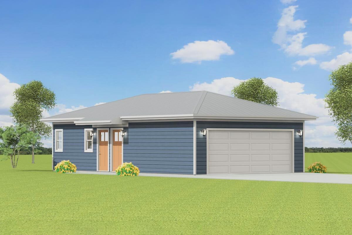 1-Bedroom Single-Story Carriage Home with Studio Apartment and Double Garage