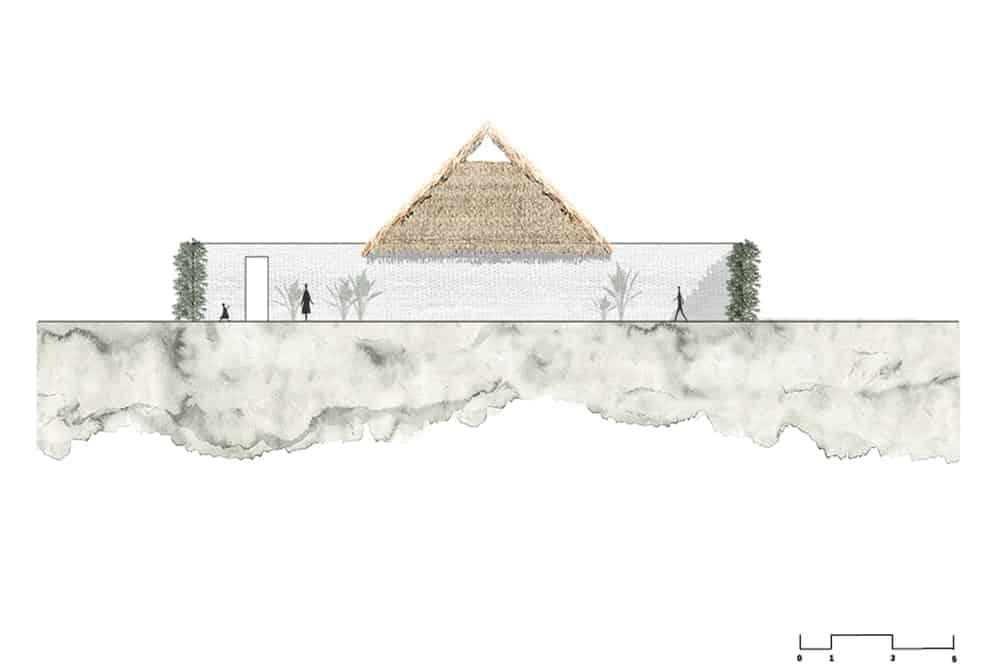 This is an illustrative representation of the North elevation of the house.